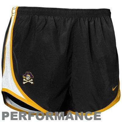 Nike East Carolina Pirates Ladies Black Dri-FIT Tempo Performance Shorts