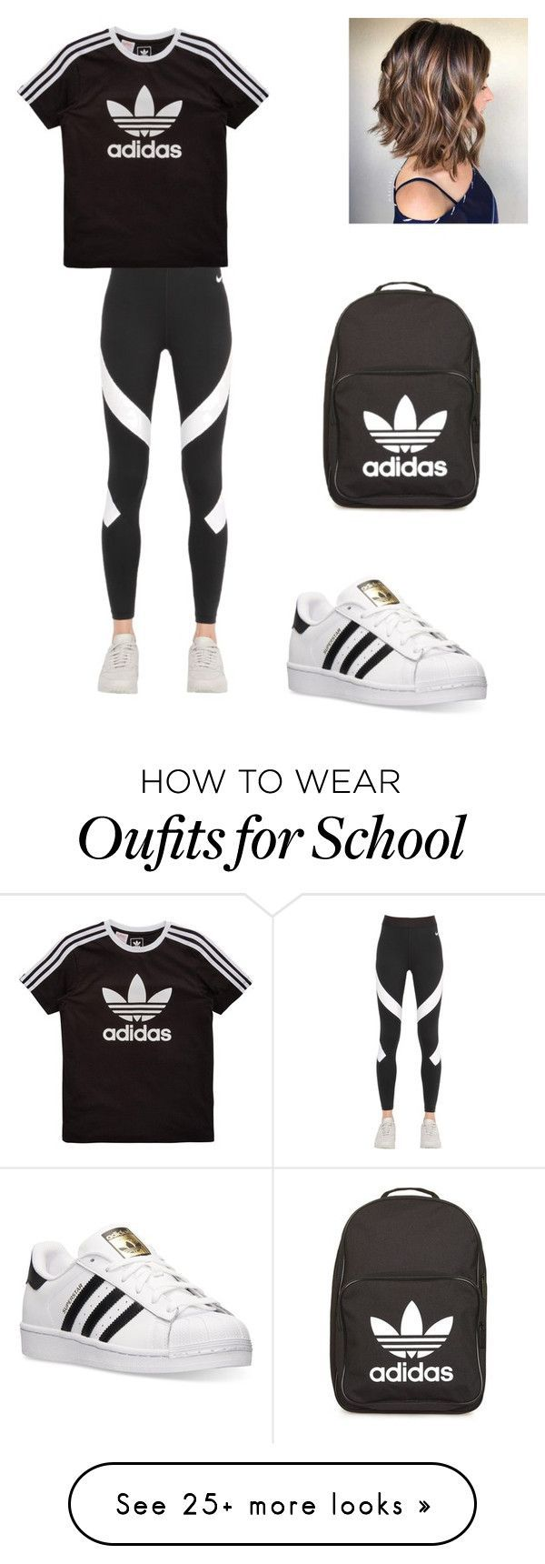The middle schooler #4 by ruby-rubird on Polyvore featuring adidas, NIKE and adidas Originals ,Adidas shoes #adidas #shoes