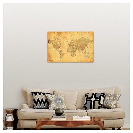 418 best wall decor inspiration images on pinterest abstract art art vintage world map gumiabroncs Image collections