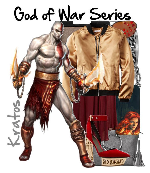 """Kratos from the God of War Series (Genderbend)"" by imanirine ❤ liked on Polyvore featuring BillyTheTree, David Yurman, Gasoline Glamour, Nasty Gal, NARS Cosmetics, Bower, American Eagle Outfitters and Versace"