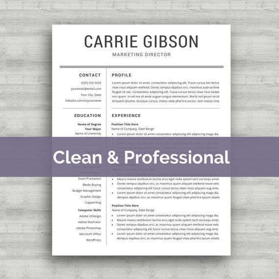 10 best cv images on Pinterest Cv template, Resume templates and - professional resume template microsoft word 2010