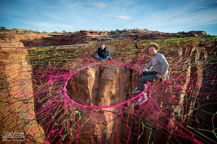 The Moab Monkeys, a Utah-based group of athletes, have no issues with vertigo or adrenaline. They recently set up a spider web net over a canyon