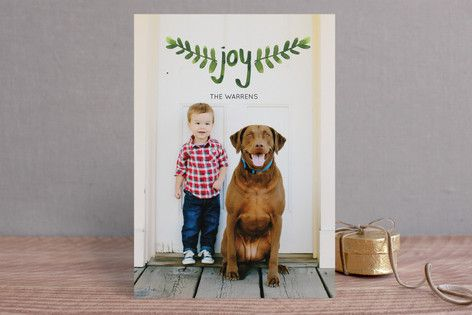 Hand-Painted Branches Christmas Photo Cards by Peter Loves Jane at minted.com