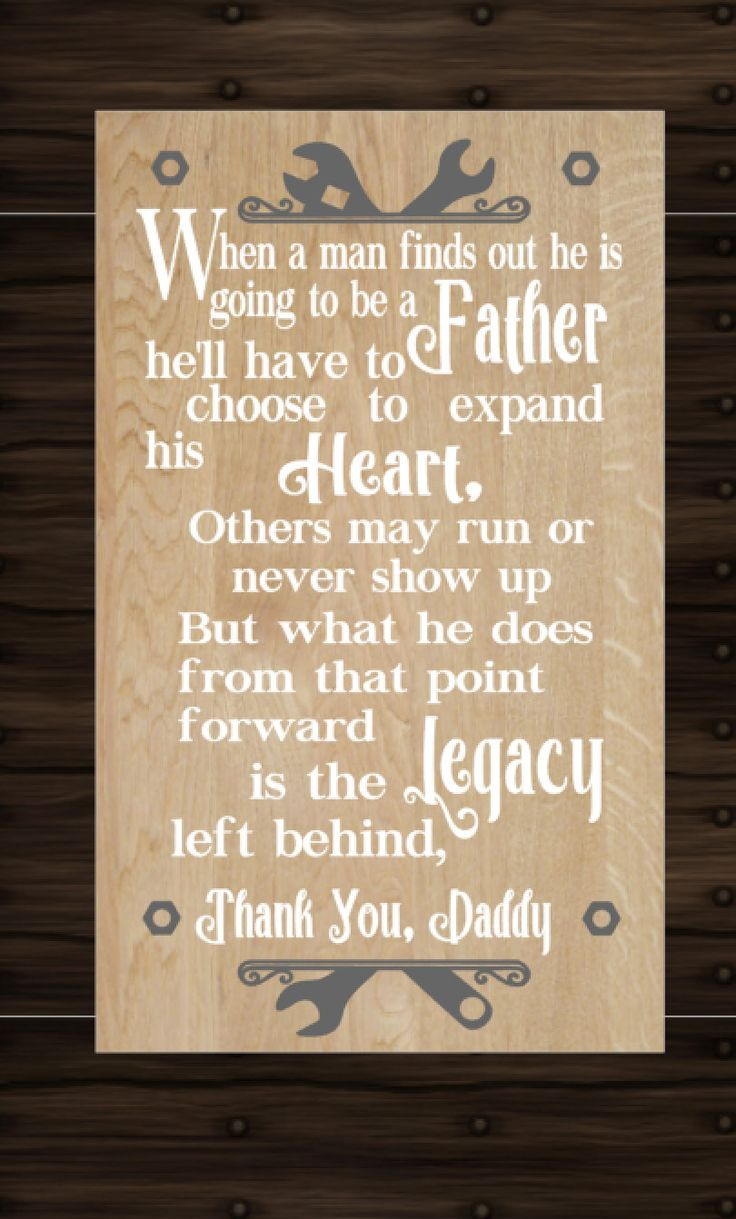 Father's Day Gifts- Gift for Dad- Dad Gift - Dad Sign Thank you Daddy Sign quote inspirational Heart and Legacy Sign for Dad, Papa, Husband - pinned by pin4etsy.com