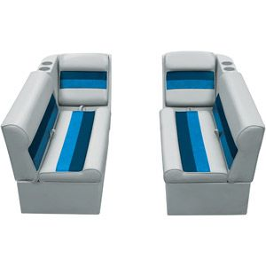 """Who knew.  Must remodel pontoon boat!!   Wise Pontoon Furniture Relaxing Front Lounger Seating Group 55"""" Side Footprint"""