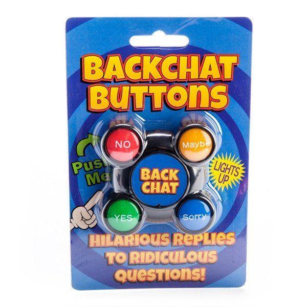 Novelty Talking Backchat Buttons