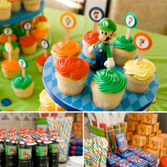 24 best mario luigi birthday images on pinterest birthday party super mario birthday party theme cupcake towers and favor tables filmwisefo