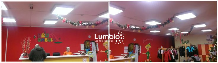 Merry Christmas to Brumbambule children's center in Prague. LED panels Lumbio® has improved visibility and returned to objects in the room their natural color. Our environmentally friendly LED panels lighten without stroboscopic effect and without emitting heat, so they have a positive impact on the health in environment where children play. Safety and well-being is for all parents crucial. Saving energy and maintenance costs are the matter of course.