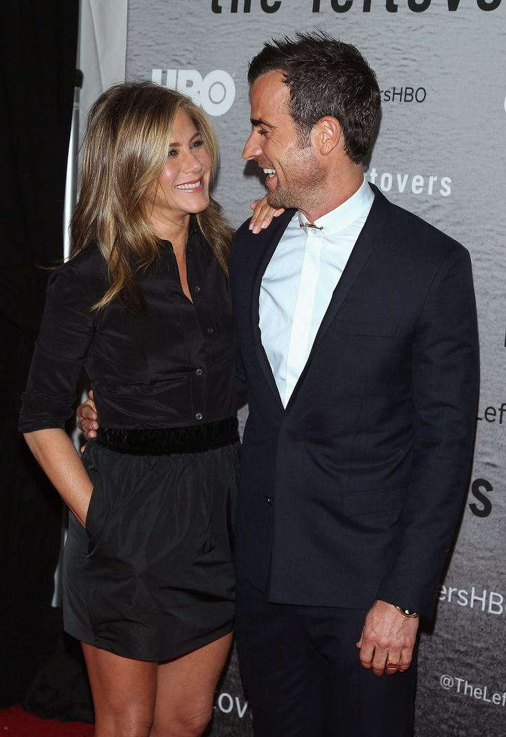 Jennifer Aniston and Justin Theroux at The Leftovers premiere in NYC