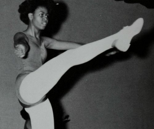 Rare picture of First Lady, Michelle Obama, as a dancer.
