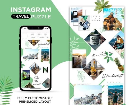 Instagram Puzzle Template Psd Instagram Template Instagram