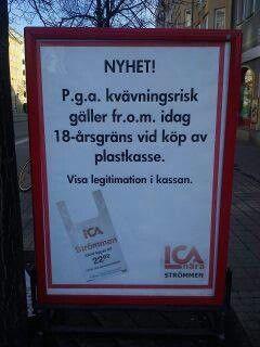 På svenska,  aprilskämt.