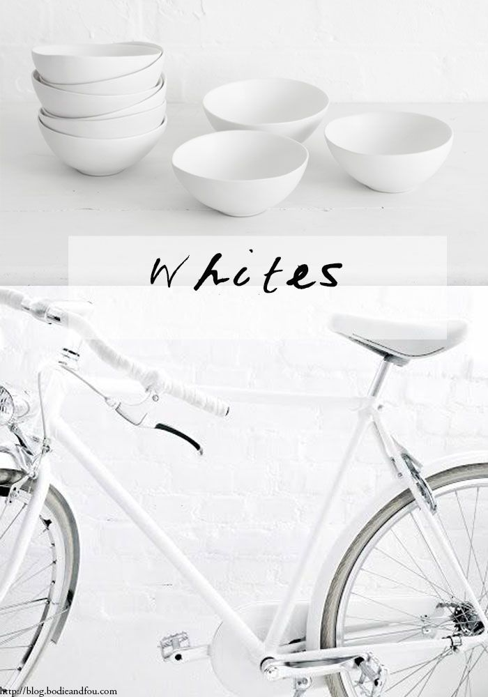 # 09 WHITES 01 Series curated by Karine Candice Kong, mood board >> http://blog.bodieandfou.com