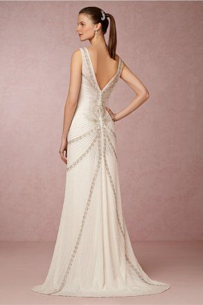 Nicole Miller Bridal Blaine Beaded Dress Wedding Dress