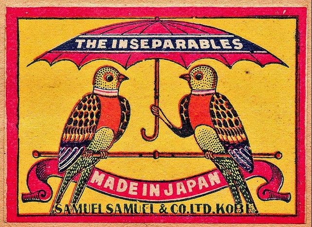 vintage matchbox packaging via the dieline