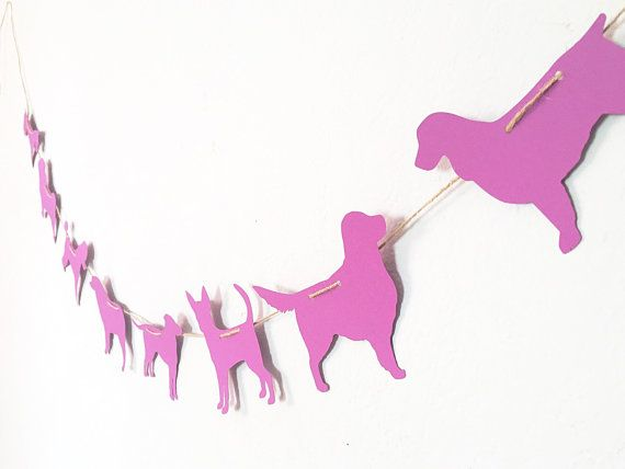 This simple yet adorable banner would be perfect for any occasion, especially for dog lovers!  You can add stickers, paper, and more to make it your