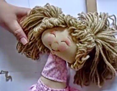 Artesanato Fofo: Como fazer cabelo para boneca de pano
