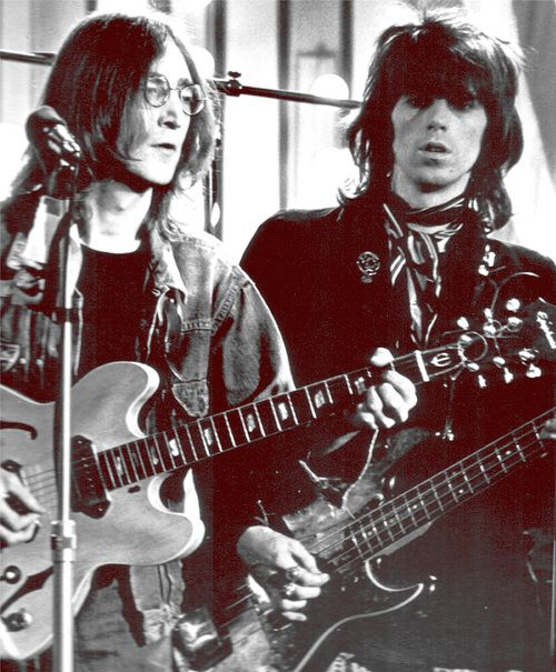 John Lennon & Keith Richards que buen documento