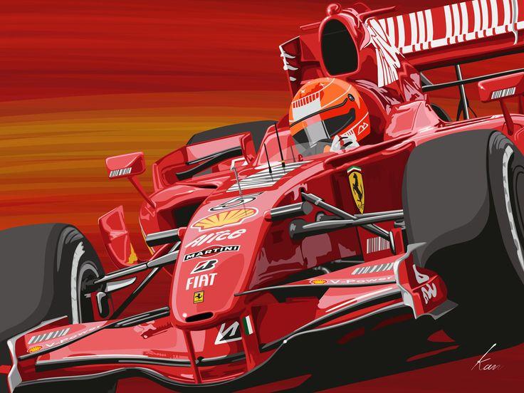 Michael Schumacher Ferrari F1 My Art Work Original Car