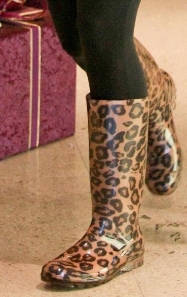 rain boots animal print