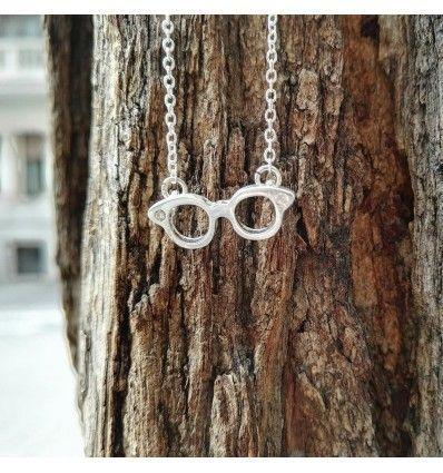 """Halskette """"Hipster Brille"""" - Vintage Brillenkette"""