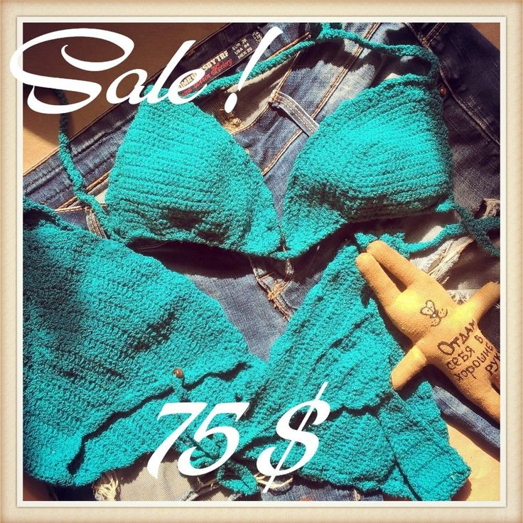 Emerald Crochet Bikini Sexy Brazilian Crochet Swimwear Womens by GoaFreedom - custom crochet swimsuit - one piece - hand made - cotton + streych material