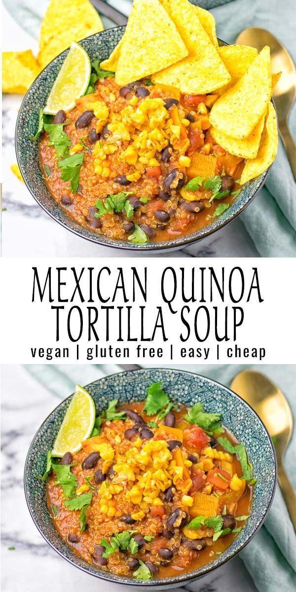 Vegan Tortilla Soup In 2020 Vegan Tortilla Soup Vegetarian Soup Recipes Vegetarian Recipes