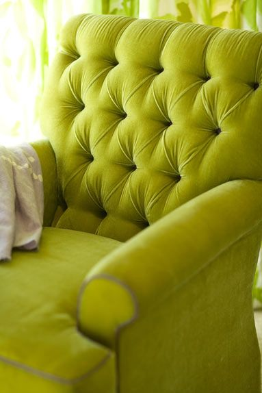 I love this color on a chair!