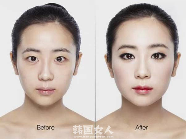 before after asian makeup before after