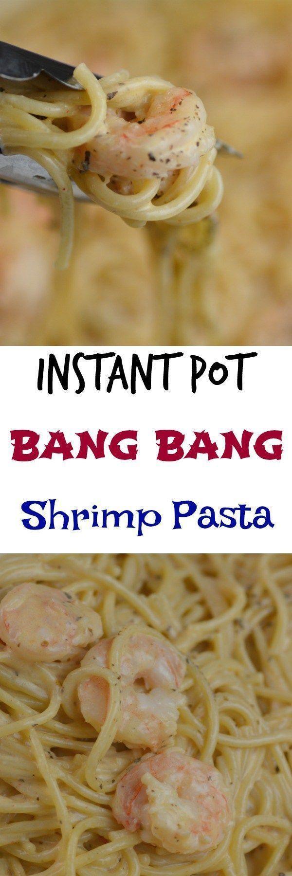 Instant Pot Bang Bang Shrimp Pasta #Instantpot #Shrimp #Copycat #Pressurecooker