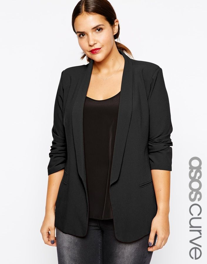 Plus Size Blazer - Love the Slim Lapel (perfect for dressy nights)!!!
