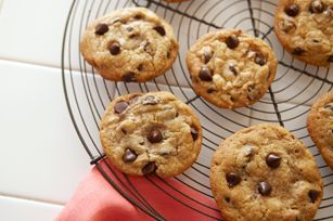 This is our go-to chocolate chip cookie recipe.  When you have a craving for a classic chocolate chip cookie, bake up a batch of these!