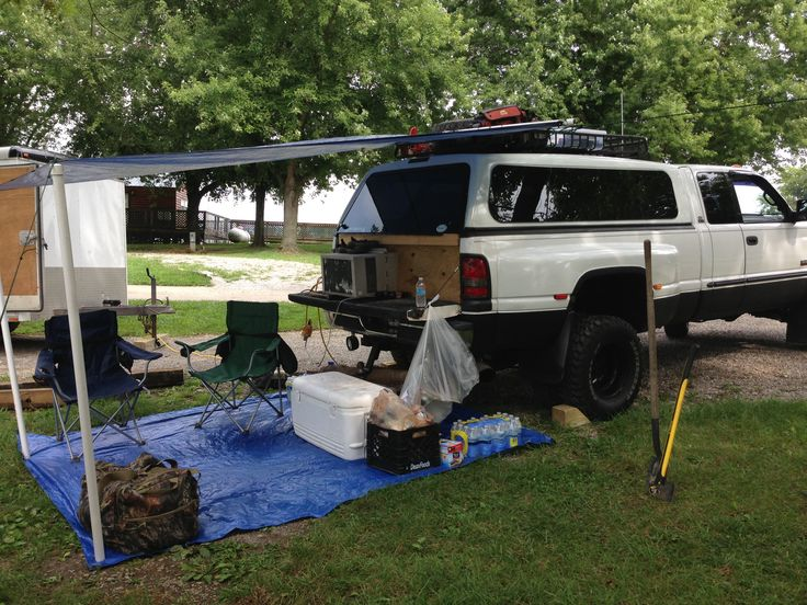 Truck Camping Air Conditioner And Queen Size Air Mattress