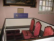George Clinton (vice president) - Wikipedia, the free encyclopedia - His pew in St Paul's Chapel in New York City