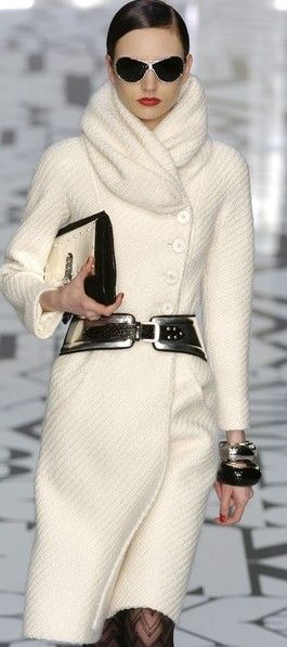 Valentino Love! Like a scarf and coat in one!