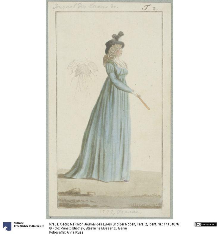 SMB-digital | Journal des Luxus und der Moden, Tafel 2, January 1797.