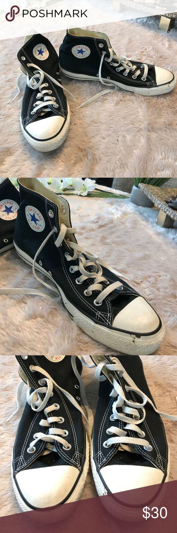 Black high top Men's converse tennis shoes Slightly worn high top men's converse sneakers Converse Shoes Sneakers