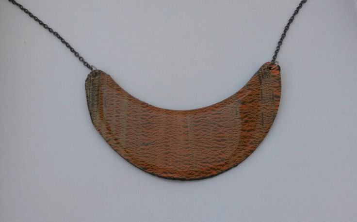 brown necklace handmade original by PolySanAntoni on Etsy, €7.00