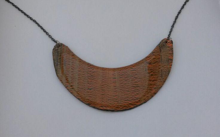 brown necklace handmade original by PolySanAntoni on Etsy, €7.00