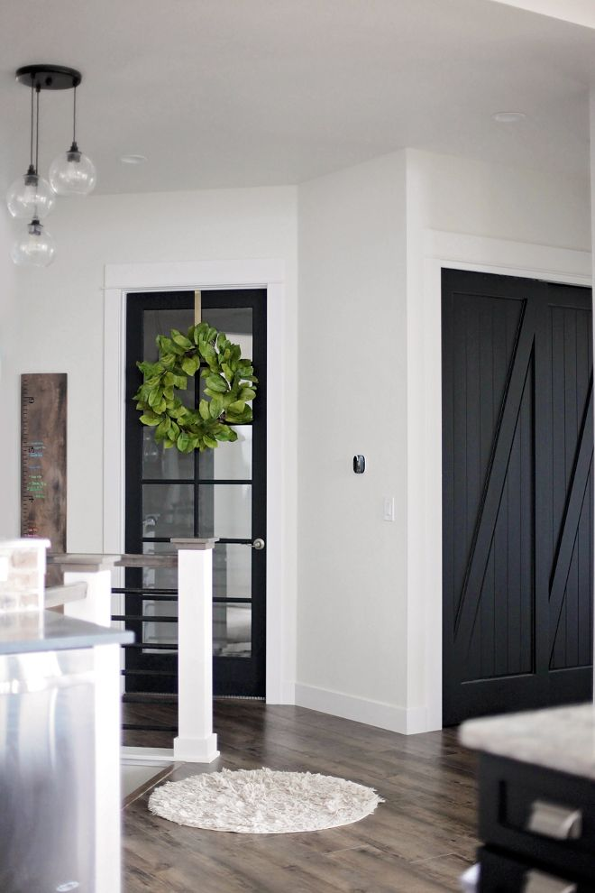 Rhonda I Like The Moulding Added To Barn Door Dresses It Up Real Paint Interior DoorsBlack