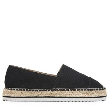 Kensie Women's Ladonna Espadrille Flat Shoes (Black)
