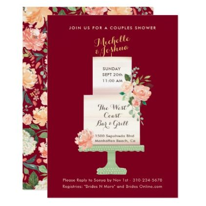 Wedding Party Names Cake Topper Watercolor Floral Card - wedding invitations diy cyo special idea personalize card