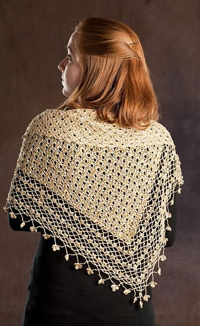 Ravelry Crocheted Shawl with Sequins pattern by Rozetti