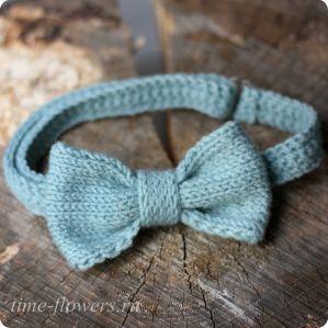 Вязаный галстук-бабочка «Bow» - Time-Flowers.ru - интернет-магазин авторских аксессуаров - Ярославль