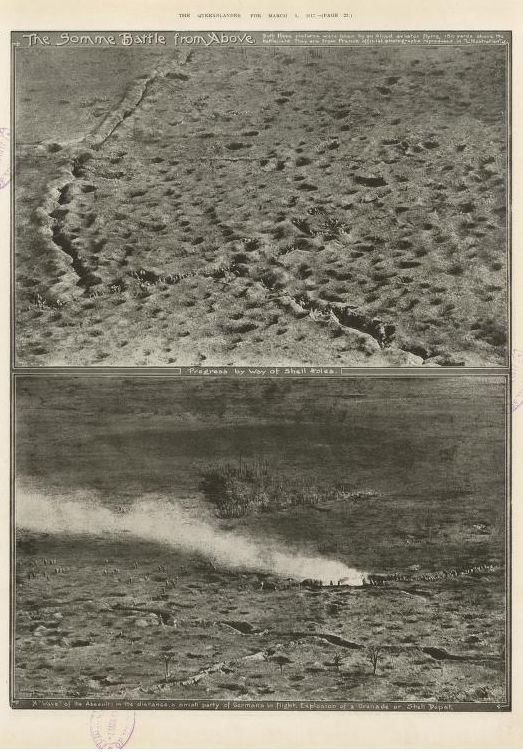 "WWI, 3 March 1917; ""The Somme Battle from Above"" - The Queenslander Pictorial, Brisbane"