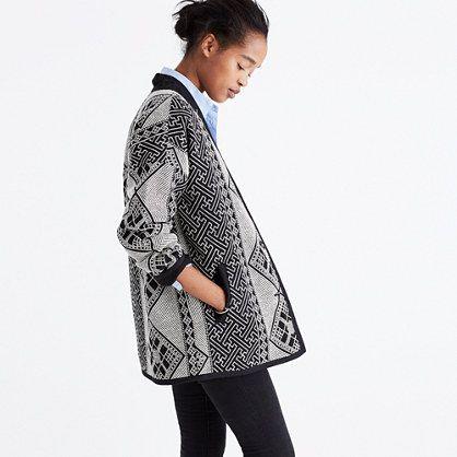 Jacquard Cocoon Jacket