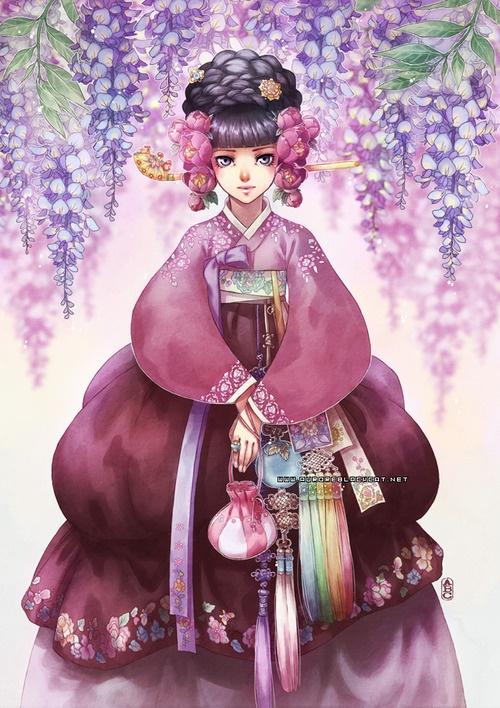 "Illustration done during spring 2012 for a step-by-step printed in my sketchbook ""Norigae"". ^v^"