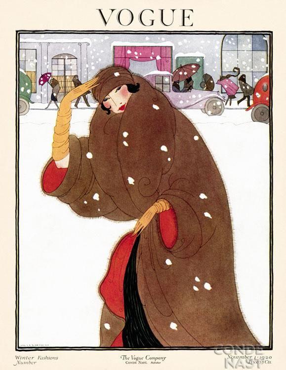 Vogue, 1922. Art Deco Fashion Drawings by Helen Dryden American Artist