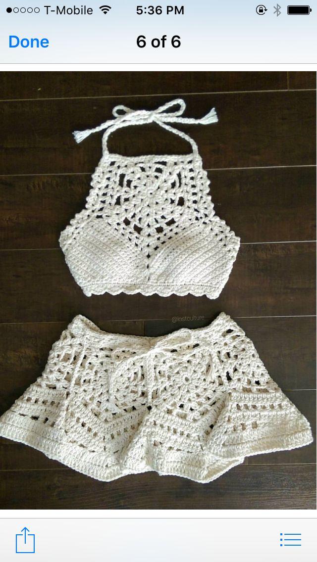 2549 best bikinis y top en crochet images on Pinterest | Bikinis ...
