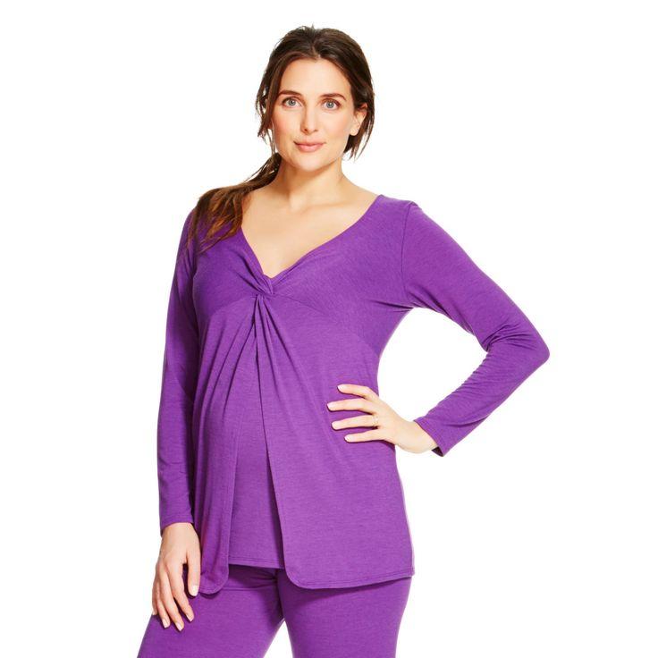 Eve Alexander Maternity Butterfly Top XL Purple, Women's